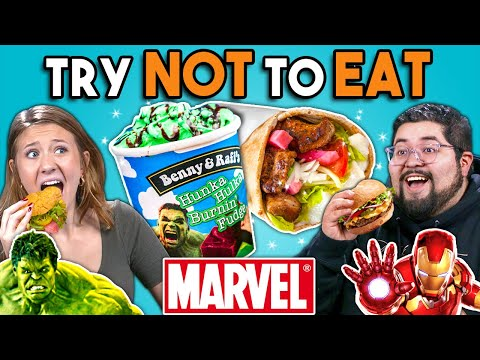 Try Not To Eat Challenge - Marvel Food  People Vs. Food