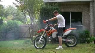 8. 2013 KTM 250 SX Start Up with FMF Factory Fatty Pipe and Titanium 2 Silencer