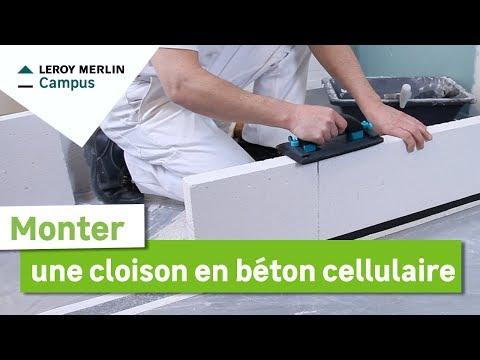 Comment monter une cloison en bêton cellulaire ? Leroy Merlin