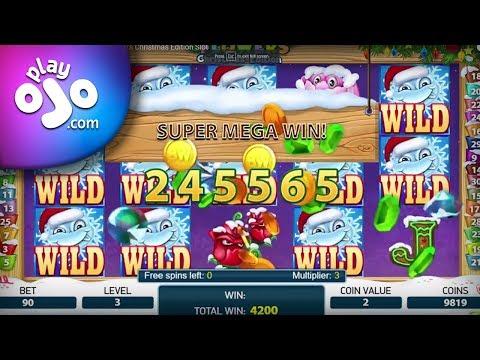 PlayOJO.com Super Mega Win on the Flowers Christmas Edition Slot