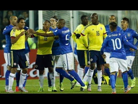 Pelea de Neymar y Carlos Bacca (Expulsión) – Colombia vs Brasil 1-0 Copa America 2015 HD