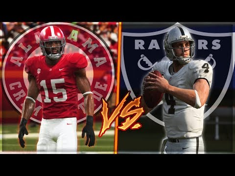 Could Alabama Beat The Oakland Raiders? | Madden 19 Challenge
