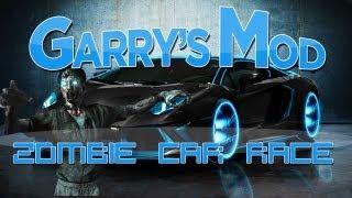 Gmod (Garry's Mod) - ZOMBIE CAR RACE (Minecraft Mod)