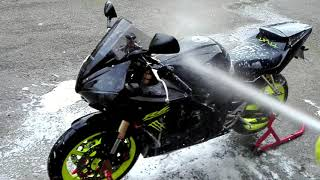 9. YAMAHA YZF R6 2005 EXHAUST LEOVINCE SBK , WASHED AND REVIEW