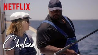 Video Vince Wilfork Takes Chelsea Deep Sea Fishing | Chelsea | Netflix MP3, 3GP, MP4, WEBM, AVI, FLV Oktober 2018