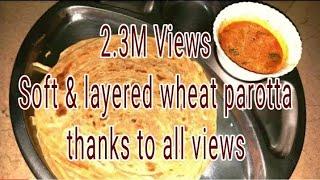 Video ഗോതമ്പ് പൊറോട്ട.. ഈസിയായി വീട്ടിലുണ്ടാക്കാം.. / how to make easy and tasty wheat parotta at home MP3, 3GP, MP4, WEBM, AVI, FLV Juni 2018