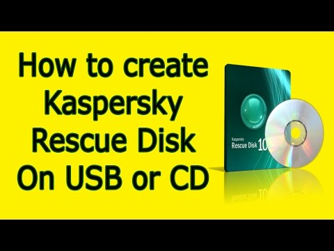 How to create Create Kaspersky Rescue Disk
