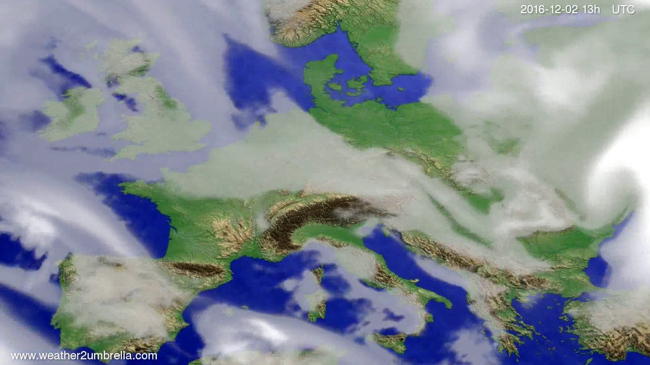 Cloud forecast Europe 2016-11-29