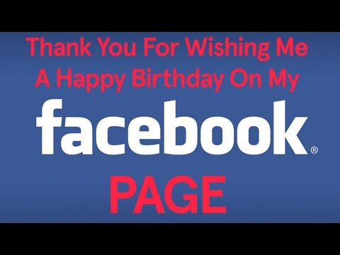 Thank You For Wishing Me A Happy Birthday On My Facebook Page (Song A Day #1561)