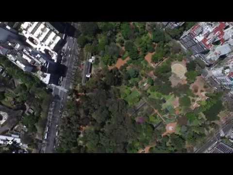 Vista aérea del Jardín Botánico de Buenos Aires