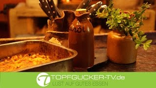 Erzgebirgischer Buttermilchgetzen aus dem Backofen mit Leinöl