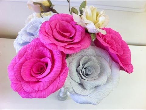 Flores de Papel - Mais dicas de artesanato no: http://www.showdeartesanato.com.br Página no Facebook: http://www.facebook.com/blogshowdeartesanato Se você gostou desse vídeo, ...