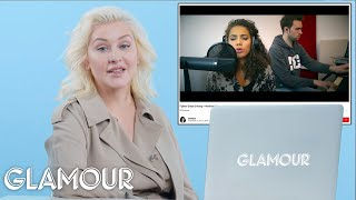 Video Christina Aguilera Watches Fan Covers On YouTube | Glamour MP3, 3GP, MP4, WEBM, AVI, FLV Juli 2018