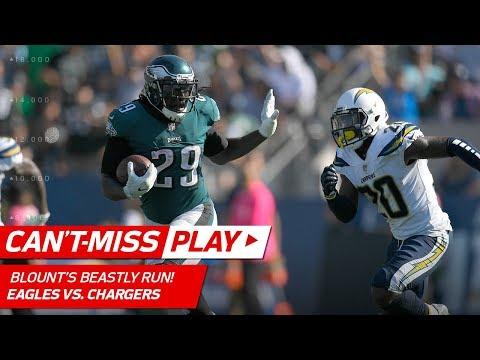 Video: Blount's Beastly Run w/ Big Stiff Arm & Smallwood's TD Dive! | Can't-Miss Play | NFL Wk 4