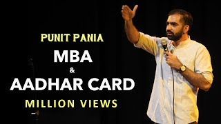 Video MBA and Aadhar Card | Stand-up Comedy by Punit Pania MP3, 3GP, MP4, WEBM, AVI, FLV Desember 2017