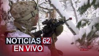 Militares de la marina entrenan en temperaturas heladas en California. – Noticias 62. - Thumbnail