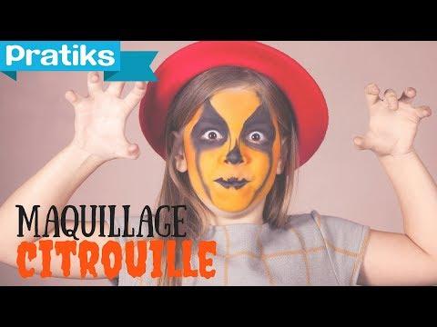 Halloween : Maquillage et d�guisement F�te: La citrouille