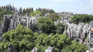 A glimpse of the Stone Forest (ShiLin), YunNan province