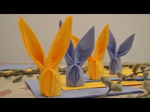 Пасхальные зайчики из салфеток - DomaVideo.Ru