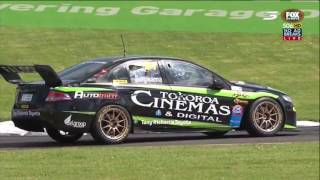 Jason Bargwanna spins in race 2 at Pukekohe of the 2016/2017 BNT New Zealand Touring Car series