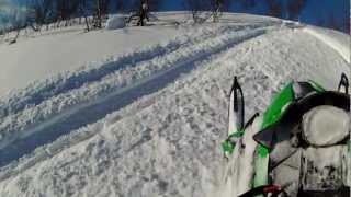 7. Arctic Cat XF 800 in some deep powder