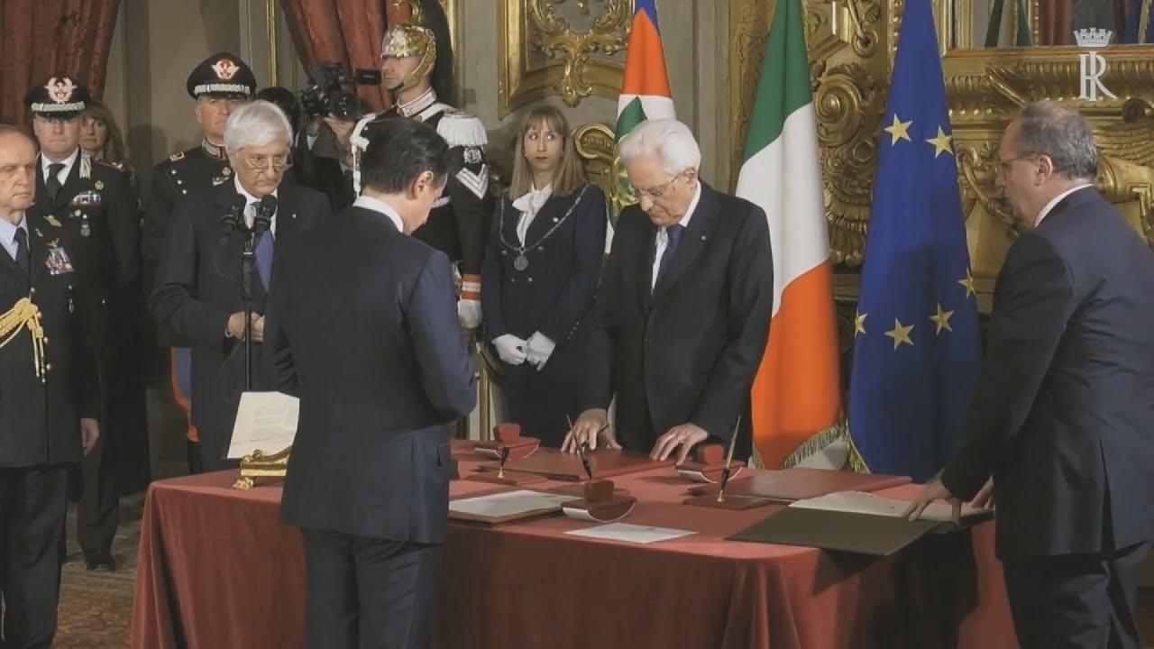 Ιταλία: Η κυβέρνηση του Τζουζέπε Κόντε ορκίσθηκε στο Κυρηνάλιο