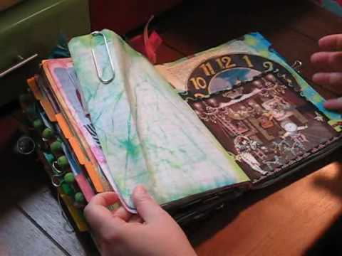 Journal - At the request of the Art Journal Caravaners, a quick glimpse at Tangie's Junque Journal made out of a composition notebook.