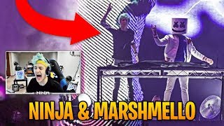 Ninja Reacts to Marshmello Inviting Him on Stage! | Fortnite Best Moments #26