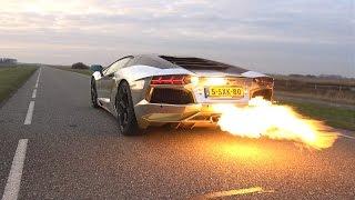 Video INSANE!! Lamborghini Aventador LP700 SPITTING HUGE FLAMES! MP3, 3GP, MP4, WEBM, AVI, FLV Oktober 2017