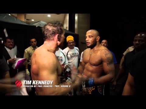 Tim - Yoel Romero and Tim Kennedy exchange words backstage after their controversial fight at UFC 178. Head over to UFC.tv to watch the UFC 178 replay!