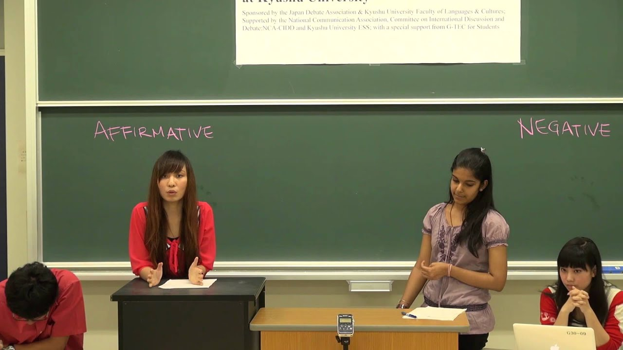 Japan-U.S. Exchange Debate 2012~Demo debate with Global 30 Debating Class Students