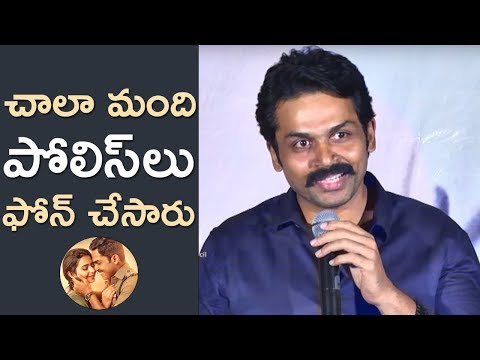 Karthi Speech @ Khakee Success Meet | Rakul Preet | Ghibran