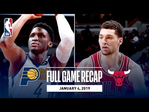Video: Full Game Recap: Pacers vs Bulls | Oladipo and LaVine Trade Clutch Buckets