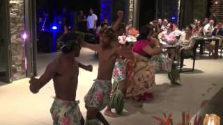 Fijian Meke at InterContinental Fiji Golf Resort - Epi & Pau'u Wedding Reception 17th Aug 2013.
