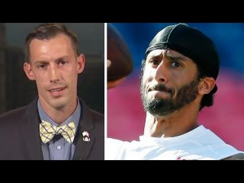 colin kaepernick refuses to stand for blood spangled banner the jewish libertarian. Black Bedroom Furniture Sets. Home Design Ideas