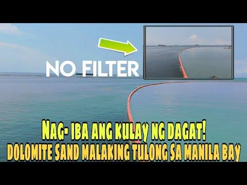 ANG TOTOONG KULAY NG DAGAT SA MANILA BAY | MANILA BAY DOLOMITE SAND UPDATE 09-28-2020