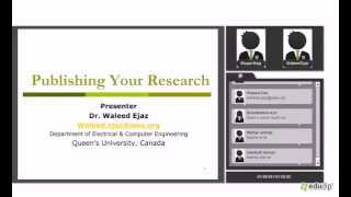 Publishing Your Research Waleed Ejaz SN
