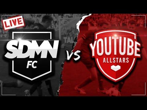 SIDEMEN FC VS YOUTUBE ALLSTARS LIVESTREAM (видео)