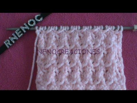 lavorazione a maglia - variazione del punto paloma
