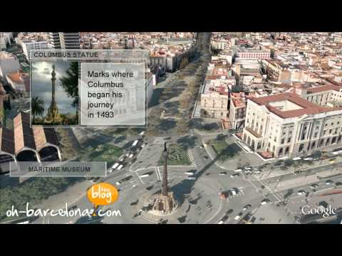 Barcelona 3D video - A virtual tour of Barcelona