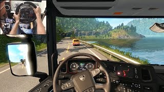 Scania S730 - 55T Special Transport | Euro Truck Simulator 2 | Logitech g29 gameplay