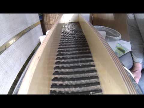 Goldwaschen     die Konzentrat Waschrinne
