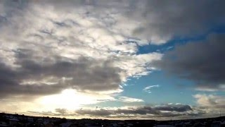 14.12.2015 - Sniega mākoņi - Снежные облака - Snow clouds, Time-lapse, Latvia