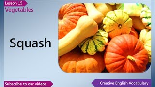 Vegetables, English Vocabulary Lesson 15