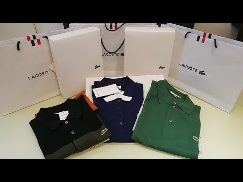Lacoste Polo shirts Unboxing