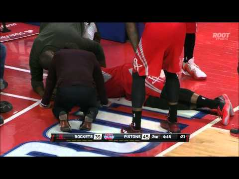 James Harden injures left knee in Detroit