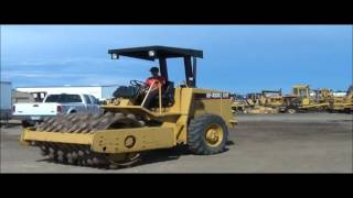 9. 1996 Caterpillar CP-433C vibratory padfoot roller for sale | sold at auction August 23, 2012