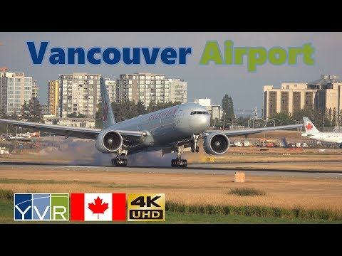 Vancouver Airport YVR Plane Spotting 3rd August 2018 HD 4K