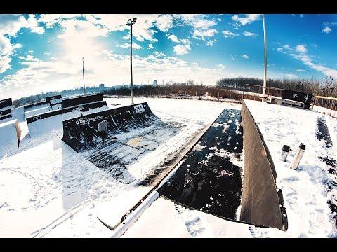 Winter skatepark fun!
