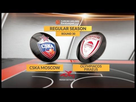 EuroLeague Highlights RS Round 30: CSKA Moscow 90-86 Olympiacos Piraeus